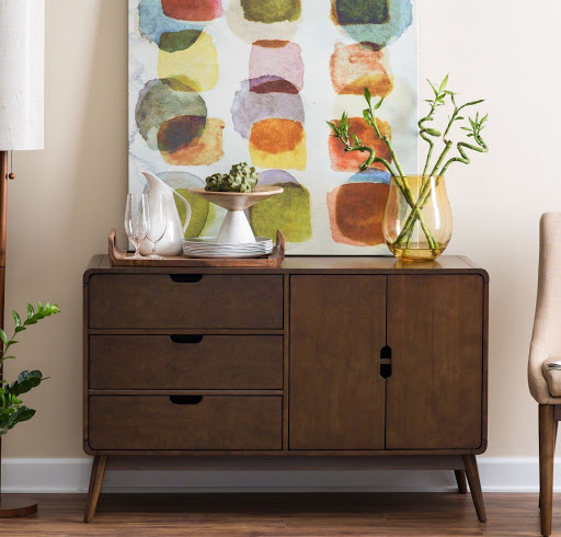 Buffet Table Cabinet Hutch Breakfast Sideboards Credenza