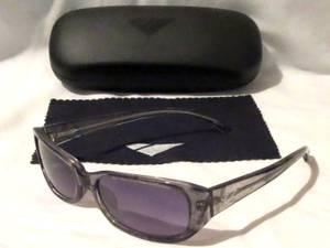 Womens Sunglasses - Gray Swirl Frames with Smoke Gradient Lenses - NEW