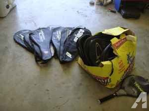 tennis and racquetball racket covers - $25 (lorena)