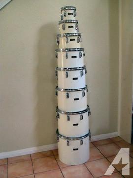 Pearl Concert Toms Vintage Drums set of 8