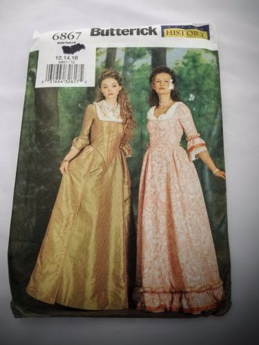 Butterick 6867 Making History Dress & Scarf Victorian