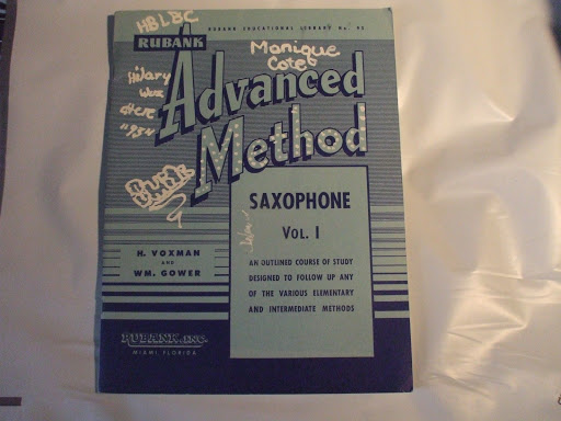 Advanced Method Saxophone Vol. 1 Rubank Educational Library