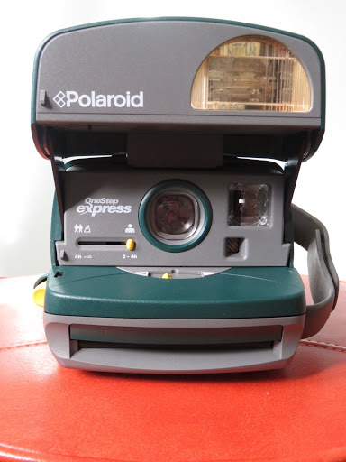POLAROID ONE STEP EXPRESS 600 Film Camera W/Flash Tested and