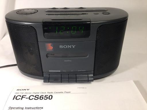SONY ICF-CS650 Dream Machine AM/FM Radio Cassette Player