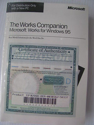 Vintage Computer Software & Book Microsoft Works Companion