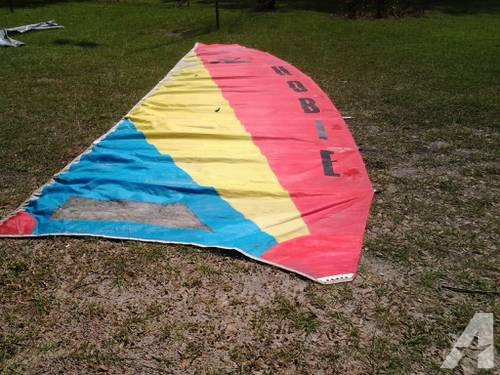 Windsurfers with Custom Trailer with boards, sails etc