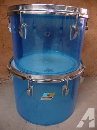 Two 70's Ludwig Vistalite concert toms -