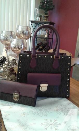 Michael Kors Women's Bridgette Medium Tote Leather Handbag & MK matching Wallet