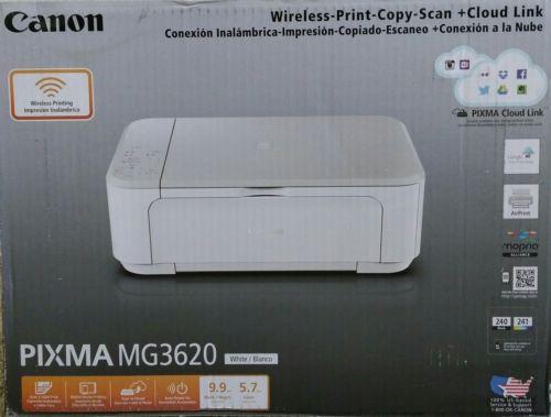 Canon PIXMA MG3620 White Wireless All-In-One Inkjet Printer