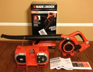 Black & Decker LSWV36 Leaf Blower Sweeper + Radio Battery Charger (Billerica)