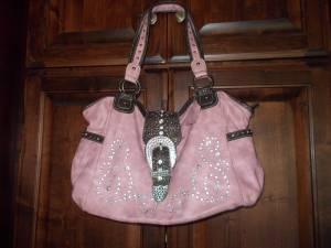 Pink Western purse