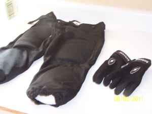 Football pants & gloves - $15 (Pueblo West)