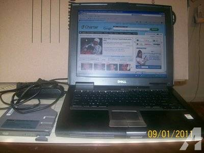 $169 Dell laptop D520, DVD drive, 2 battys, like new