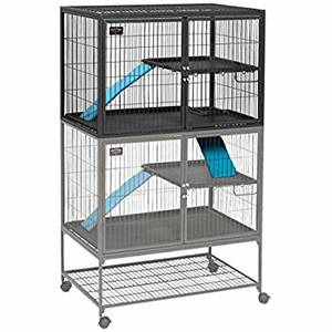 Ferret Nation Double Unit habitat / cage with stand (FORT WAYNE)