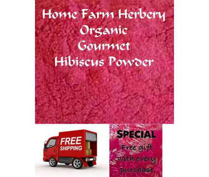 Hibiscus Powder (organic), Order now, FREE shipping & a FREE gift