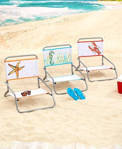 Coastal Artwork Beach Chairs Lake Pool Outdoor Concert