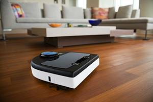 Bagless robotic vacuum for pets and allergies (Sunset)