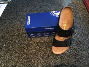 Black Birkenstock Sandals Original Arizona Oiled Leather 9(42) (Polaris)