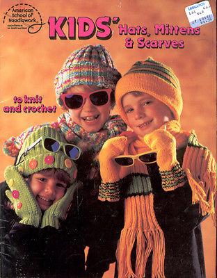 Kid's Hats Mittens & Scarves American School Of Needlework