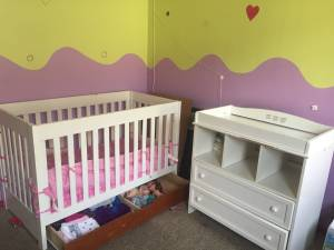 Crib mattress and dresser for sale (Valley village)