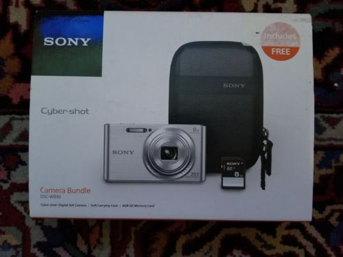 Sony Cybershot DSC-W830 20.1MP Digital Camera Bundle -