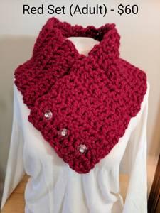 Beautiful Handmade Crochet Scarf Cowl Neckwear