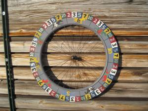 VINTAGE GAME WHEEL - C. 20th Century ! (LAMBERTVILLE, NJ - nr.