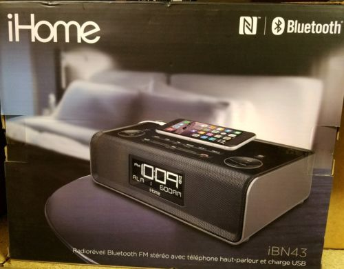 iHome iBN43BC Bluetooth Stereo Dual Alarm FM Clock Radio and