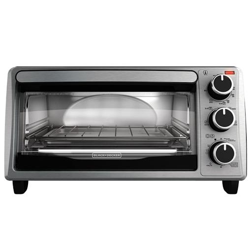 Toaster Oven 4-Slice Toast Bake Pan Broil Toasting Rack