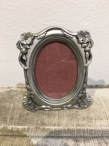Pewter mini picture frame - wallet size photo (East Village)