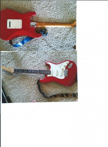 1988 American Made Fender Strato caster electric guitar w/ Amp