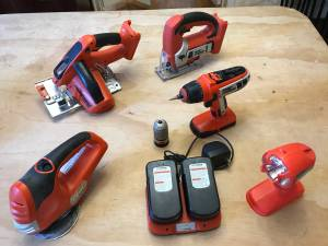 Cordless Tool Combo Set - drill, driver, jigsaw, circular saw