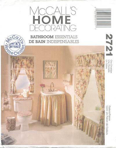 McCalls Bathroom Essentials Sewing Pattern ~ Curtains Skirt