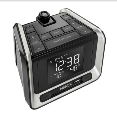 Homedics Dual Alarm Projection Clock Radio Temperature
