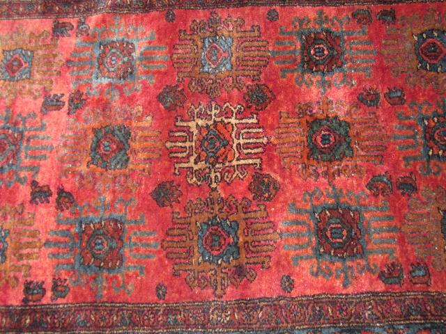 Vintage Persian Karajeh Wool Rug