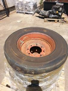 Foam filled skid steer tires