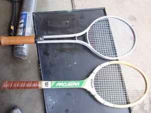 tennis rackets x2 - $5 (lincoln)
