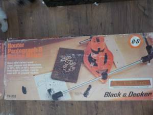 Black and Decker Router Pantograph and Design Maker (Kokomo)