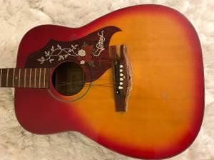 Excellent Sunburst Acoustic Vintage Guitar- For Show/Display (Upper East Side)