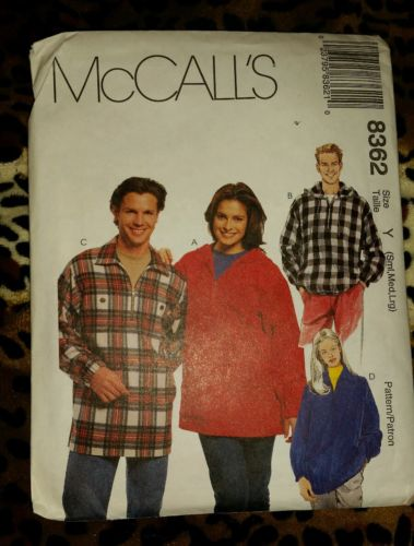 McCALL'S #8362 - MEN'S or LADIES PULLOVER HOODIE - TOP or