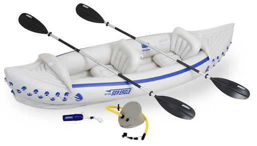 SeaEagle 330 Kayak W/Paddles Water Sports 2 Person Raft