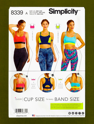 Simplicity Sewing Pattern 8339~Sew Your Own Sports Bra~3