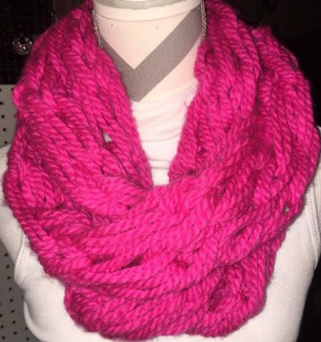 NEW Handmade Beautiful Super Soft & Full Pink Infinity Scarf