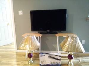 TV, Lamps and new DVD player . Make fair offer for all
