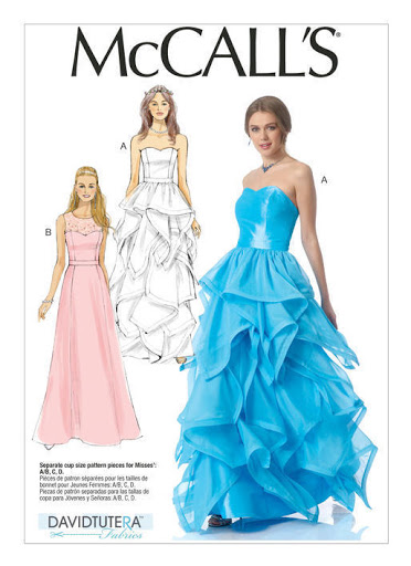 McCall's M7124 Wedding Dress, Prom Dress, Sewing Pattern
