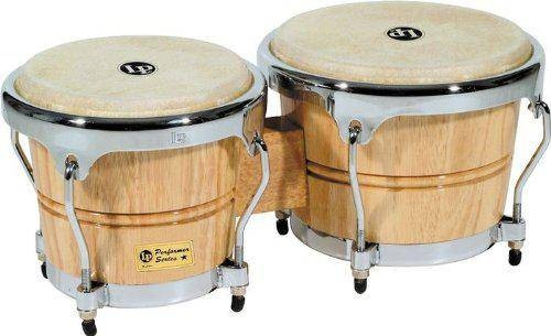 LP Performer Series Bongos with Natural Chrome Hardware AND CASE