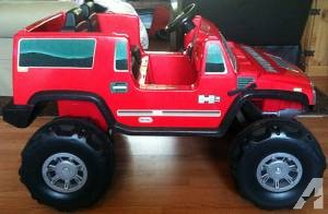 H2 Hummer Toy Car 6V Red - $100 (Chico (West Sac))