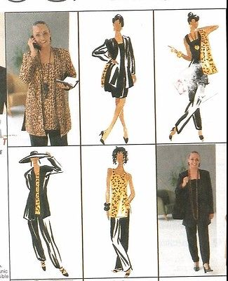 UNCUT 9630 McCalls Sewing Pattern Cardigan Dress Tunic Pants