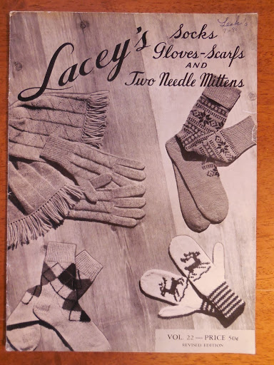 Vintage Knitting Pattern Book Laceys Socks Mittens 1967