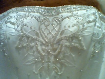 wedding dress ivory size 4 2 piece